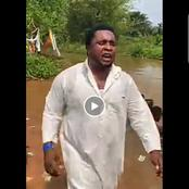 Popular Igbo Prophet Caught Red Handed Performing Rituals For Church Members In The Bush - Video