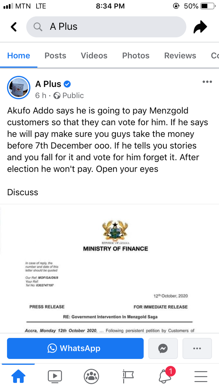 3382a3fe44b5d88d6735b094c53499d1?quality=uhq&resize=720 - Kwame A-Plus Sends Strong Warning To Menzgold Customers After Nana Addo 'Promised' To Pay Them