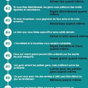 Voici les dix commandements paradoxaux