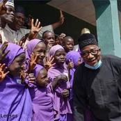 See What Bauchi Governor Was Pictured Doing With Pupils