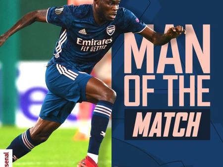 Diego Costa and Patoranking react to Thomas Partey statement after winning Man of the Match (Photos)