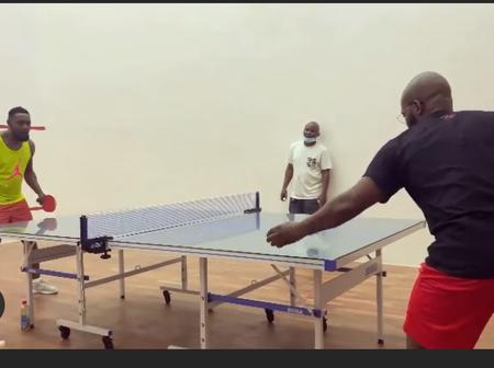 Moment Falz & Ay were spotted playing Table Tennis
