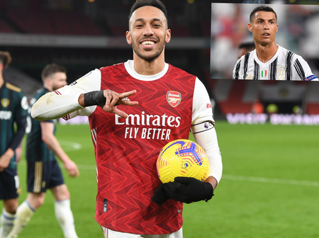 Pierre-Emerick Aubameyang Becomes The First African To Break Cristiano Ronaldo's Record