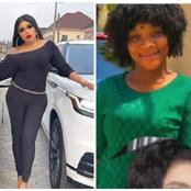 Checkout how Bobrisky reacted after another lady tattooed her name on her body