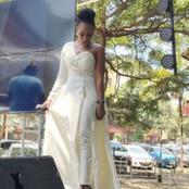 Media Personality Grace Ekirapa's Wedding Gown  Pleases Netizens