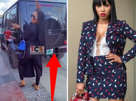 Photos: Mercy Eke Finally Acquired A G-Wagon She Promised Herself