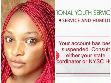 PHOTOS: Check out What A Corper Saw on Her NYSC Portal That Got People Talking