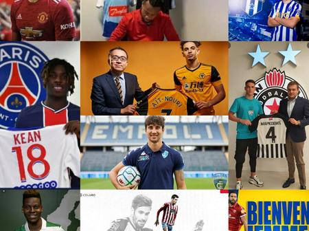 DONE DEAL: 100% Completed Done Deals for Today, Check Out Whom Your Team Have Signed.