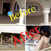 PHOTOS: See Before and After Photos of An Ex-Soldier's House Worth about 20M Burnt Down by Hoodlums