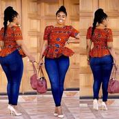 Ladies, Enjoy This Weekend With These Fabulous Ankara On Jeans Styles