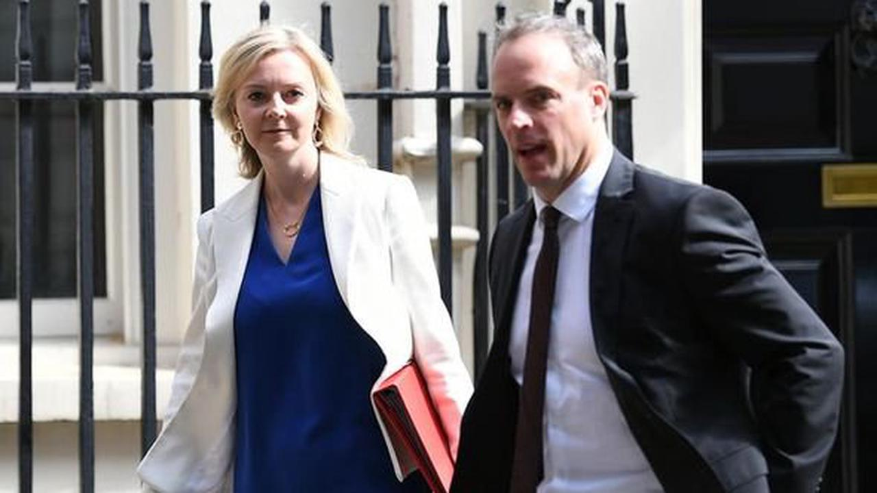 Awkward! Boris sits Truss right next to Raab in first Cabinet showdown after reshuffle