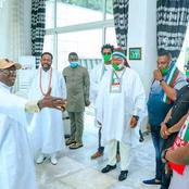 See Pictures Of Gov. Yahaya Bello's Delegation to Edo State APC's Campaign Flag-Off, Led By Onoja