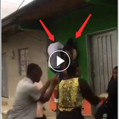 Funny Video: See What Happened To This Man And Woman Who Were Dancing Together On A Window