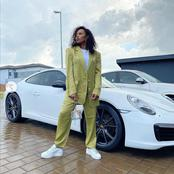 See fans go crazy over DJ Zinhle's expensive and stylish car.