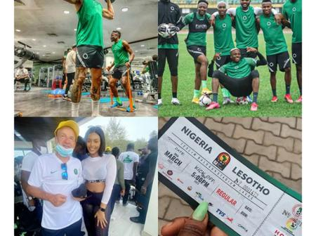 Ahead of Super Eagles Game, See How Players And Coach Are Catching Fun