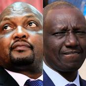 Moses Kuria's Cry To The President After Goons Did This To DP Ruto's Banners Early This Morning