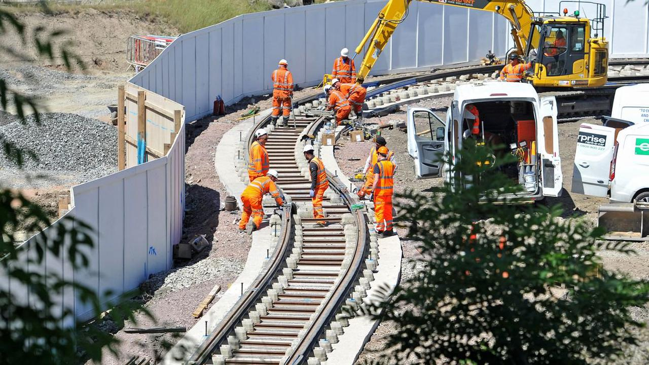 Road surface removed as work continues on West Midlands Metro extension