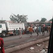 Terrible Accident As a Bus Heading To Abuja collided With a Trailer