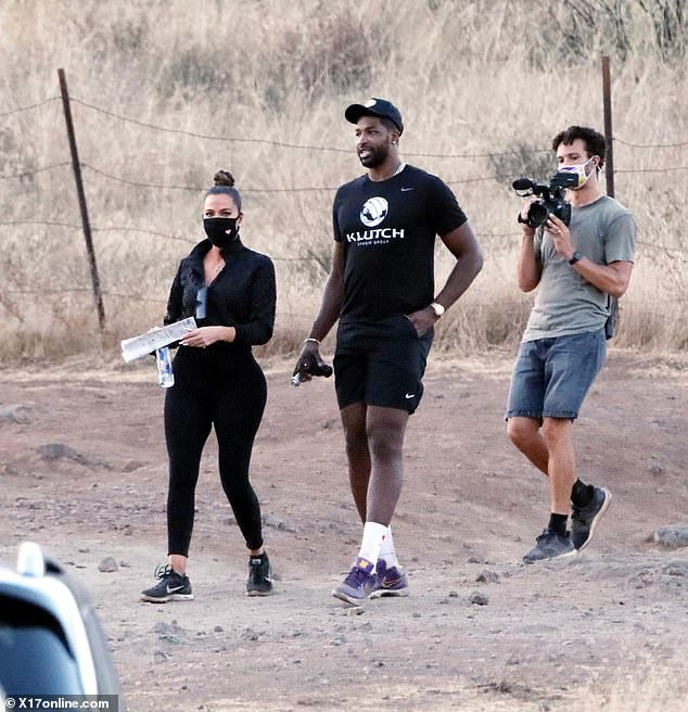 "Khloe Kardashian and Tristan Thompson spotted looking ""very happy"" as they enjoy a hike together in Malibu hills (photos)"