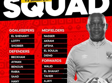 Confirmed Al Ahly sqaud to face Simba F.C