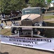 Photos Of Rolls-Royce Car Used By Late Oni Of Ife Oba Adesoji Aderemi From 1930 To 1980