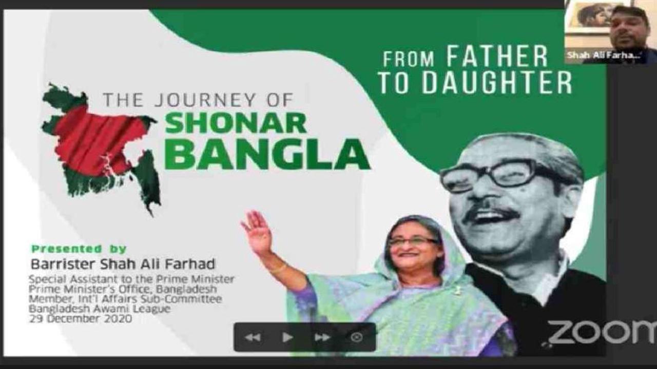 Mujib Barsha: Webinar lauds Bangabandhu's leadership, Hasina's dev focus