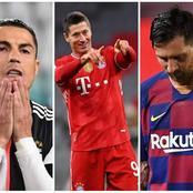 Ronaldo & Messi Fired Blank But Lewandowski Scored 3 Goals, See The European Golden Boot Standings