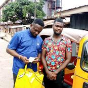 Reactions As Keke Rider Returns Bag of Money A Passenger Forgot In His Keke In Enugu (Photos)