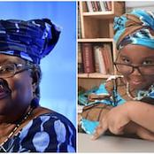 (Picture) Okonjo Iweala honours 4 year old (Picture) Okonjo Iweala honours 4 year old  girl who modelled her look with ankara cloth