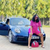 Sandra Ankobiah flaunts her new luxurious car(Photos)
