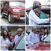 Nigerian Newly Wedded Groom Gifts His Pastor a Brand New SUV