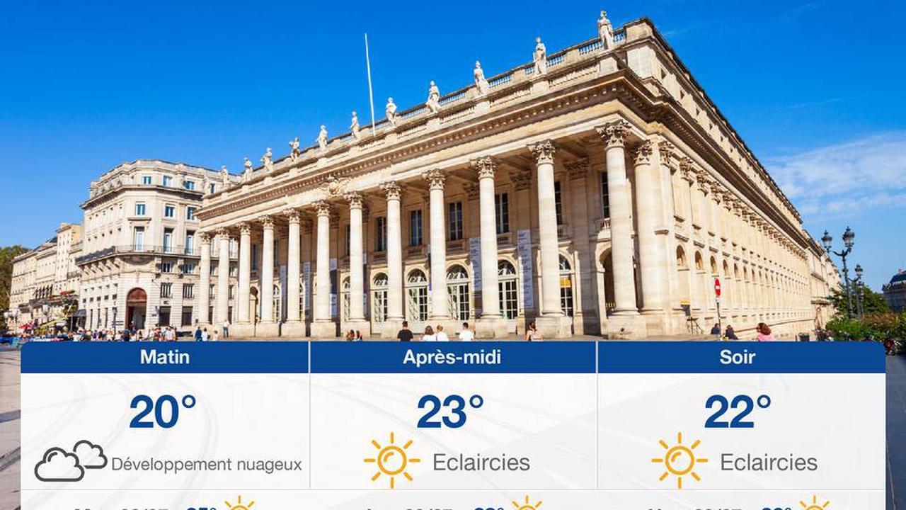 Météo Bordeaux : Prévisions du mardi 27 juillet 2021