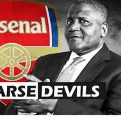 Dangote Back In The Saddle For His Six Monthly Link To Arsenal Football Club
