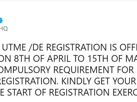 JAMB 2021 UTME/DE Registration Guide