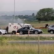 Cash In Transit Heist In N14 Lanseria, The Machines That Were Driven By The Robbers Are Top-Notch.