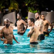 Kaizer chiefs during pool session prior their CAF clash with Africa Giants