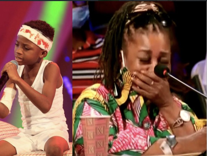 354a525bd61c4392826ff5b1d5786bb1?quality=uhq&resize=720 - Talented Kids Contestant, Akwadaa Nyame Dumbfounds Audience After His Performance As Accident Victim