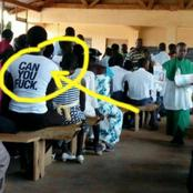 When A Village Girl Wears A Clothe Without Knowing What Was Written On It - See 25 Funny Pictures