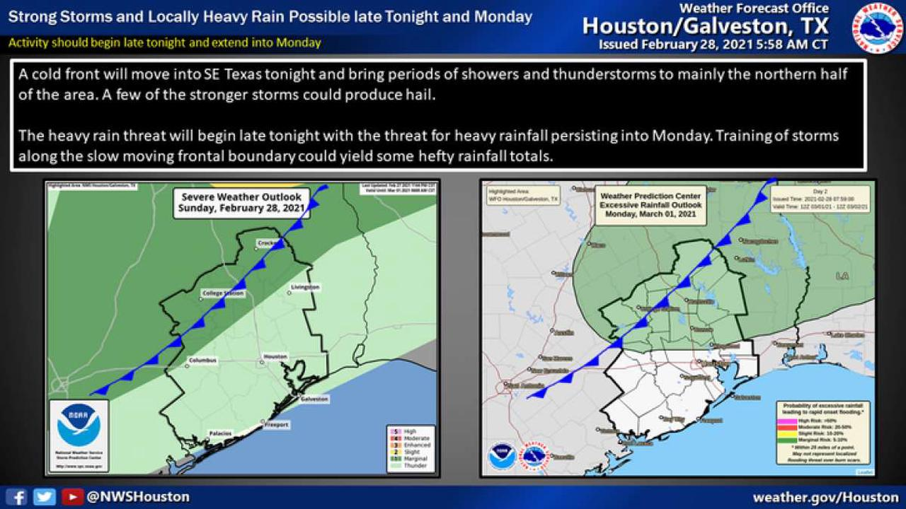 Cold front to bring storms, possible hail through Monday