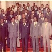 Voici la photo rétro des membres du dernier gouvernement du président Houphouet  et leurs noms