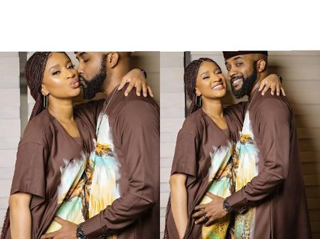 Adesua Etomi and Banky W Share Stylish New Photos wearing Matching Outfits