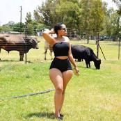 Nosipho looks gorgeous with all black outfits