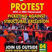 EFFSC protest against minister Blade