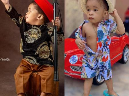 Nkechi Blessing Sunday Shares Adorable Photos Of Her Son, Who Is A Fashionista Just Like His Mother