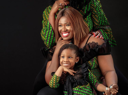 Realwarripikin Shares Lovely Pictures of Herself, Mother & Daughter