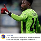 Ajax Goalkeeper Onana returns home to provide electricity to his Mum's local hometown in Cameroon