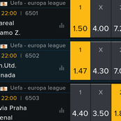 Thursday UEFA Europa Picks On Arsenal, Man U, Villarreal To Win