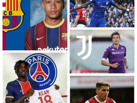Transfer deadline news: Depay, Torreira, Rudiger, Chiesa latest