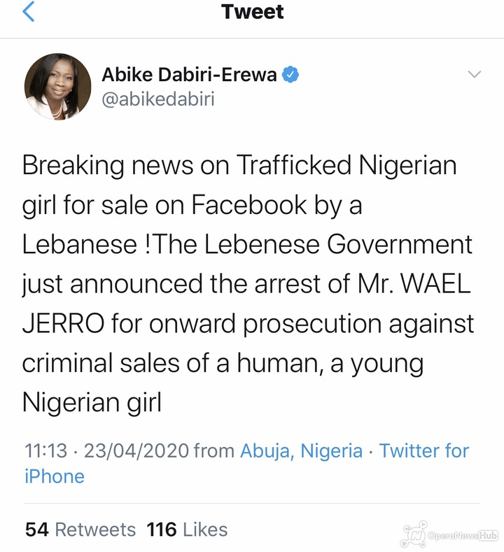 Lebanese man who posted Nigerian girl online for sale arrested ...