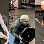 Age Is Just A Number! Watch This Old Woman Working Out At The Gym
